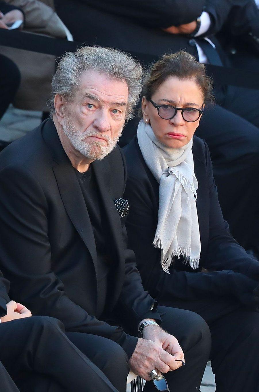 Eddy Mitchell et sa femme