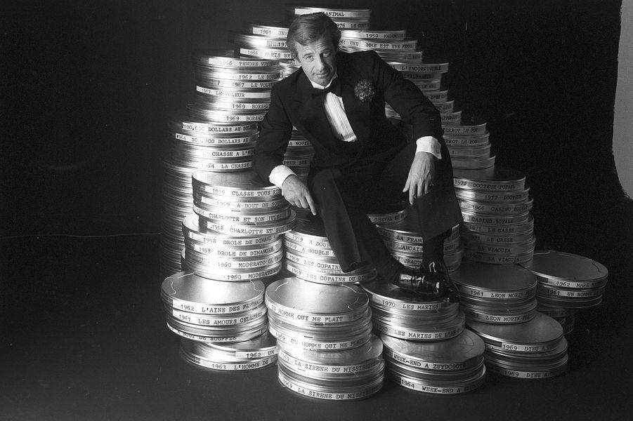 Jean-Paul Belmondo à Cannes en 1977.