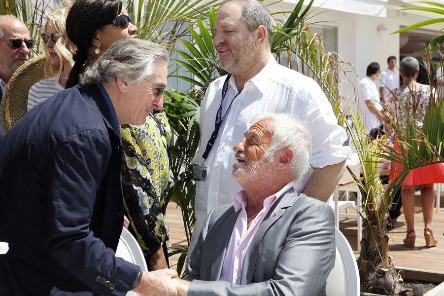 Jean-Paul Belmondo avec Robert de Niro au Cap d'Antibes, 2014.