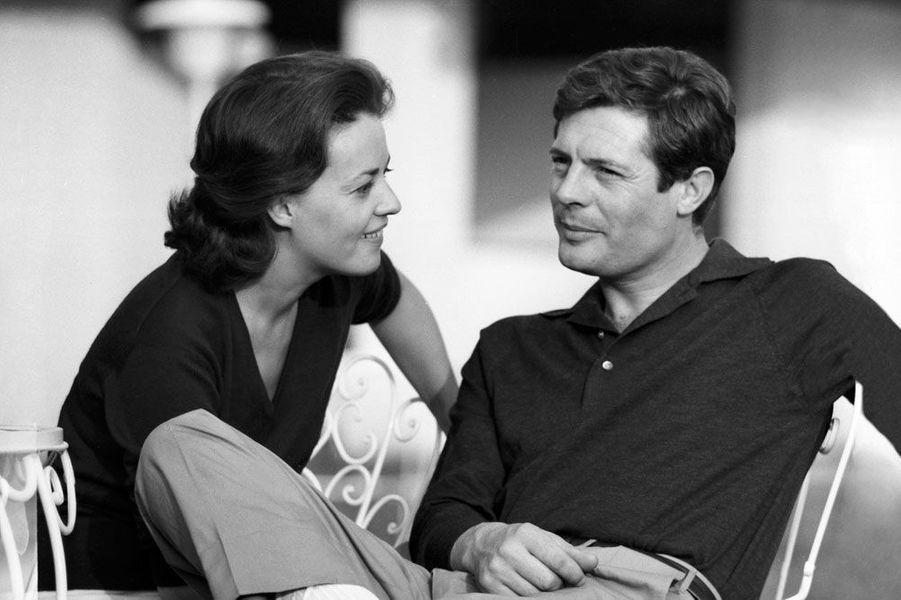 Jeanne Moreau et Marcello Mastroianni en 1960