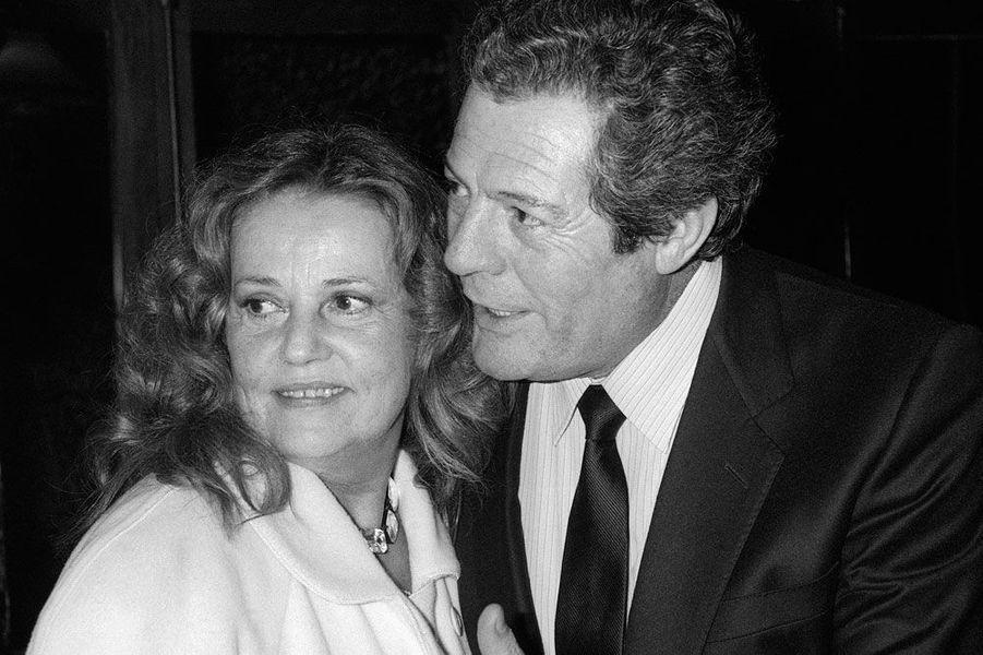 Jeanne Moreau et Marcello Mastroianni en 1985