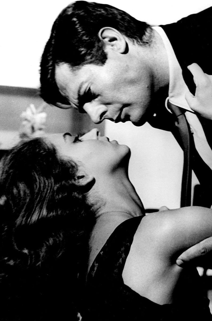 Jeanne Moreau et Marcello Mastroianni en 1961