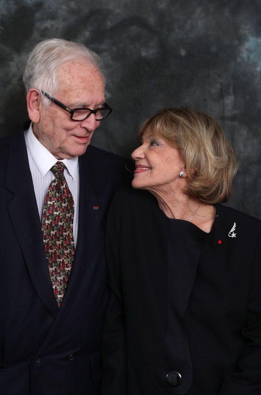 Jeanne Moreau et Pierre Cardin en 2008