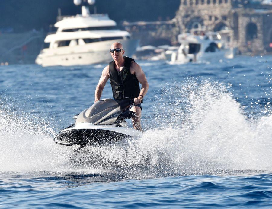 Jeff Bezos à Portofino le 10 août 2019