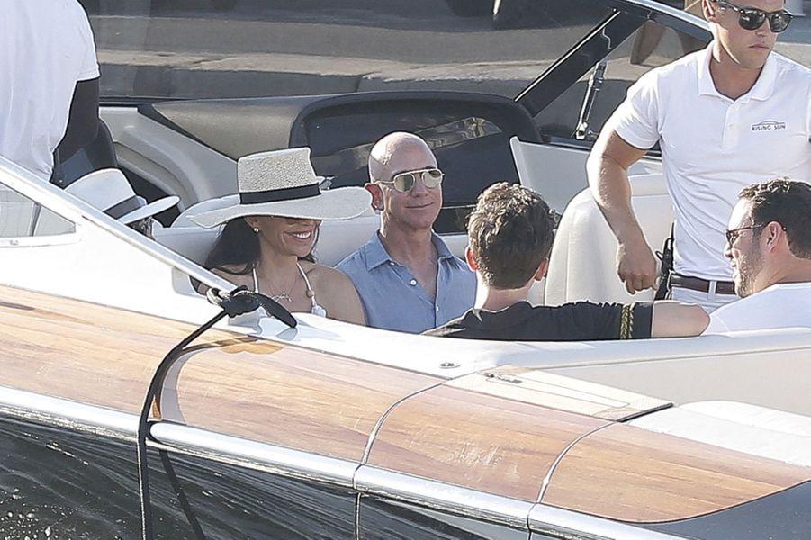 Lauren Sanchez et Jeff Bezos à Saint-Tropez le 9 août 2019
