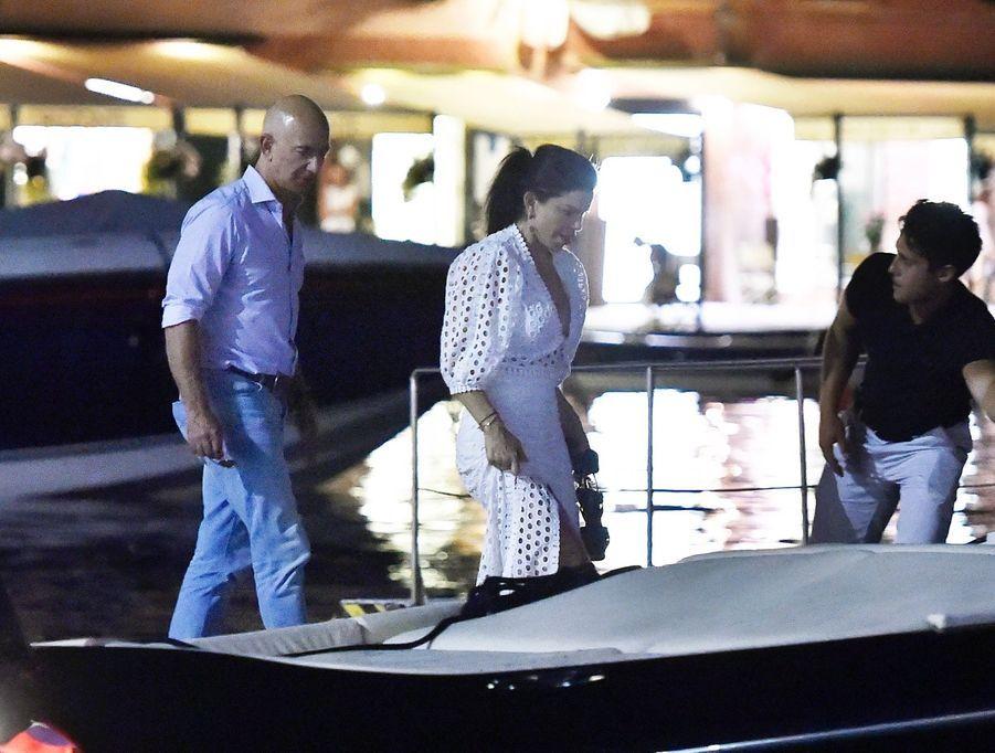 Lauren Sanchez et Jeff Bezos à Portofino le 10 août 2019
