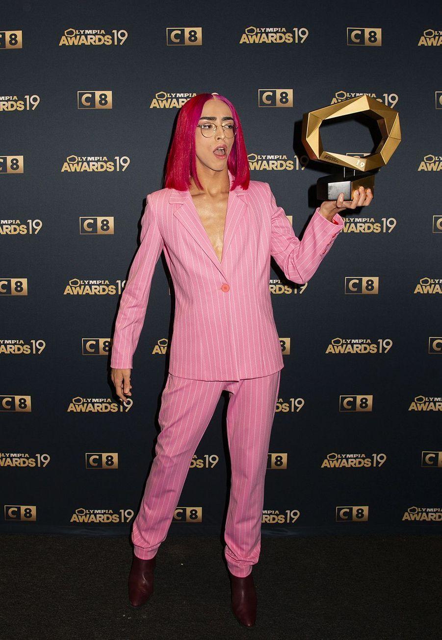 Bilal Hassanilors de la 1ère édition des Olympia Awards, cérémonie récompensant des artistes de la musique et de l'humour, à Paris le 11 décembre 2019