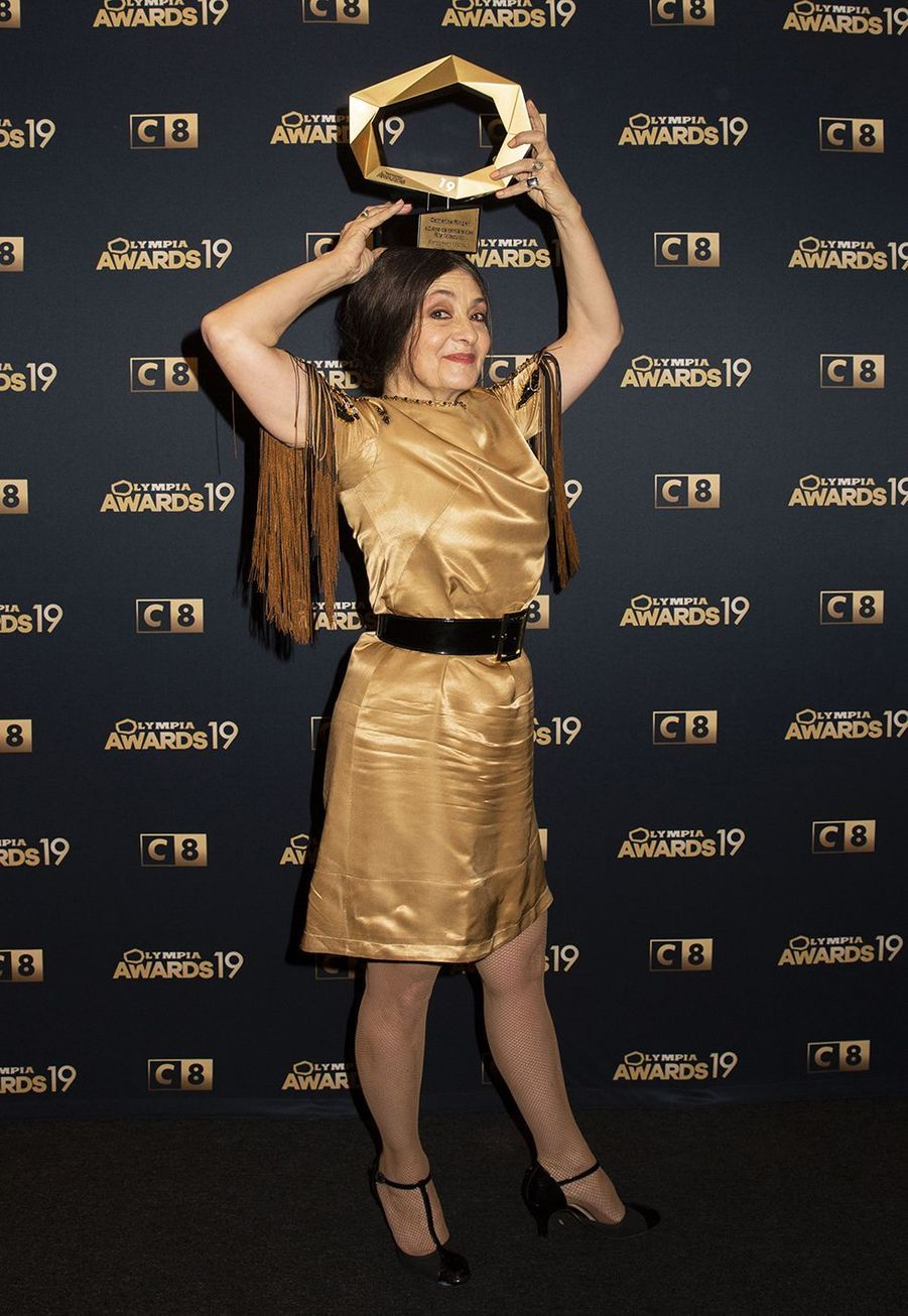 Catherine Ringerlors de la 1ère édition des Olympia Awards, cérémonie récompensant des artistes de la musique et de l'humour, à Paris le 11 décembre 2019