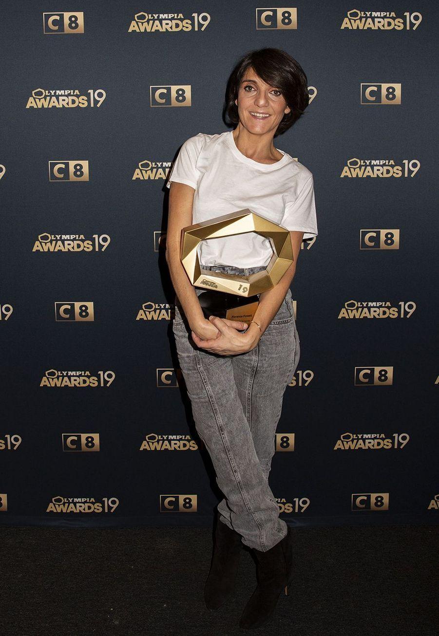 Florence Forestilors de la 1ère édition des Olympia Awards, cérémonie récompensant des artistes de la musique et de l'humour, à Paris le 11 décembre 2019