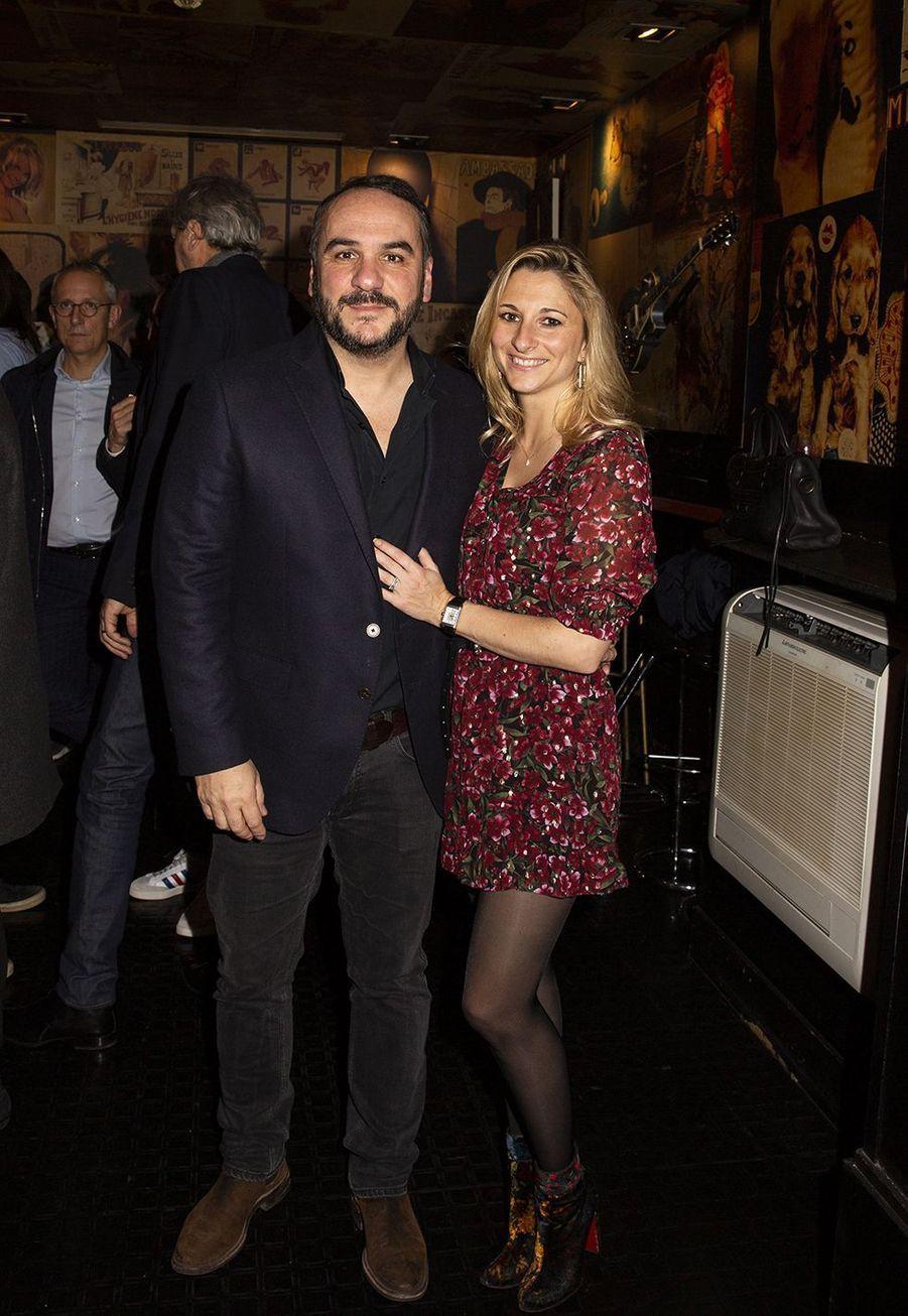 François-Xavier Demaison et son épouse Anaïslors de la 1ère édition des Olympia Awards, cérémonie récompensant des artistes de la musique et de l'humour, à Paris le 11 décembre 2019