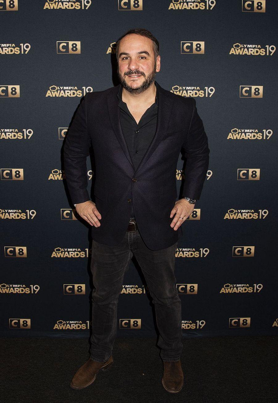 François-Xavier Demaisonlors de la 1ère édition des Olympia Awards, cérémonie récompensant des artistes de la musique et de l'humour, à Paris le 11 décembre 2019