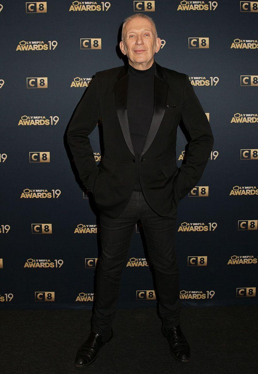 Jean Paul Gaultierlors de la 1ère édition des Olympia Awards, cérémonie récompensant des artistes de la musique et de l'humour, à Paris le 11 décembre 2019
