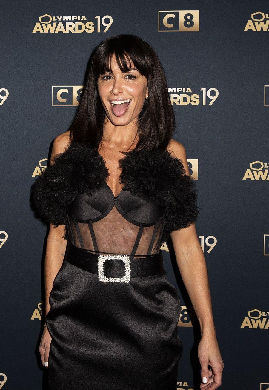 Jeniferlors de la 1ère édition des Olympia Awards, cérémonie récompensant des artistes de la musique et de l'humour, à Paris le 11 décembre 2019