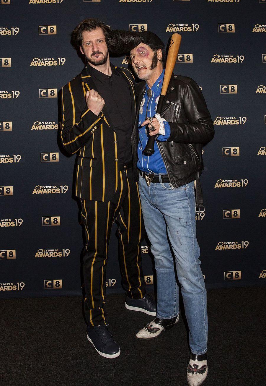 Monsieur Poulpe et Antoine de Cauneslors de la 1ère édition des Olympia Awards, cérémonie récompensant des artistes de la musique et de l'humour, à Paris le 11 décembre 2019