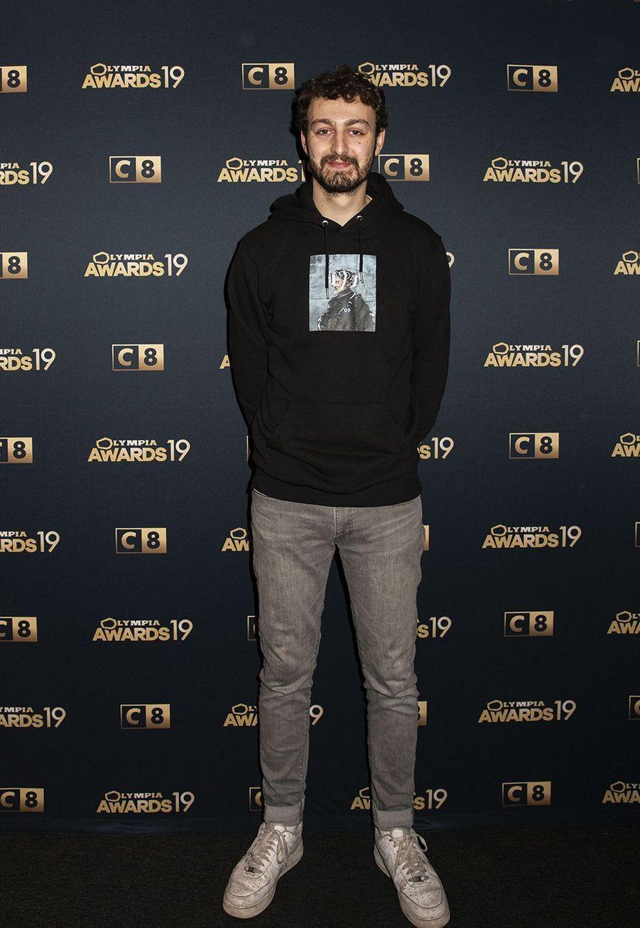 Roman Frayssinetlors de la 1ère édition des Olympia Awards, cérémonie récompensant des artistes de la musique et de l'humour, à Paris le 11 décembre 2019