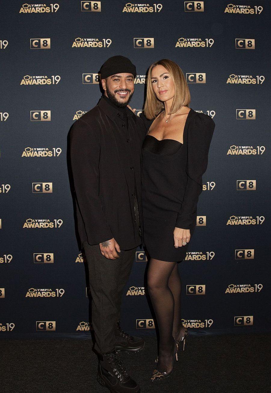 Slimane et Vitaalors de la 1ère édition des Olympia Awards, cérémonie récompensant des artistes de la musique et de l'humour, à Paris le 11 décembre 2019