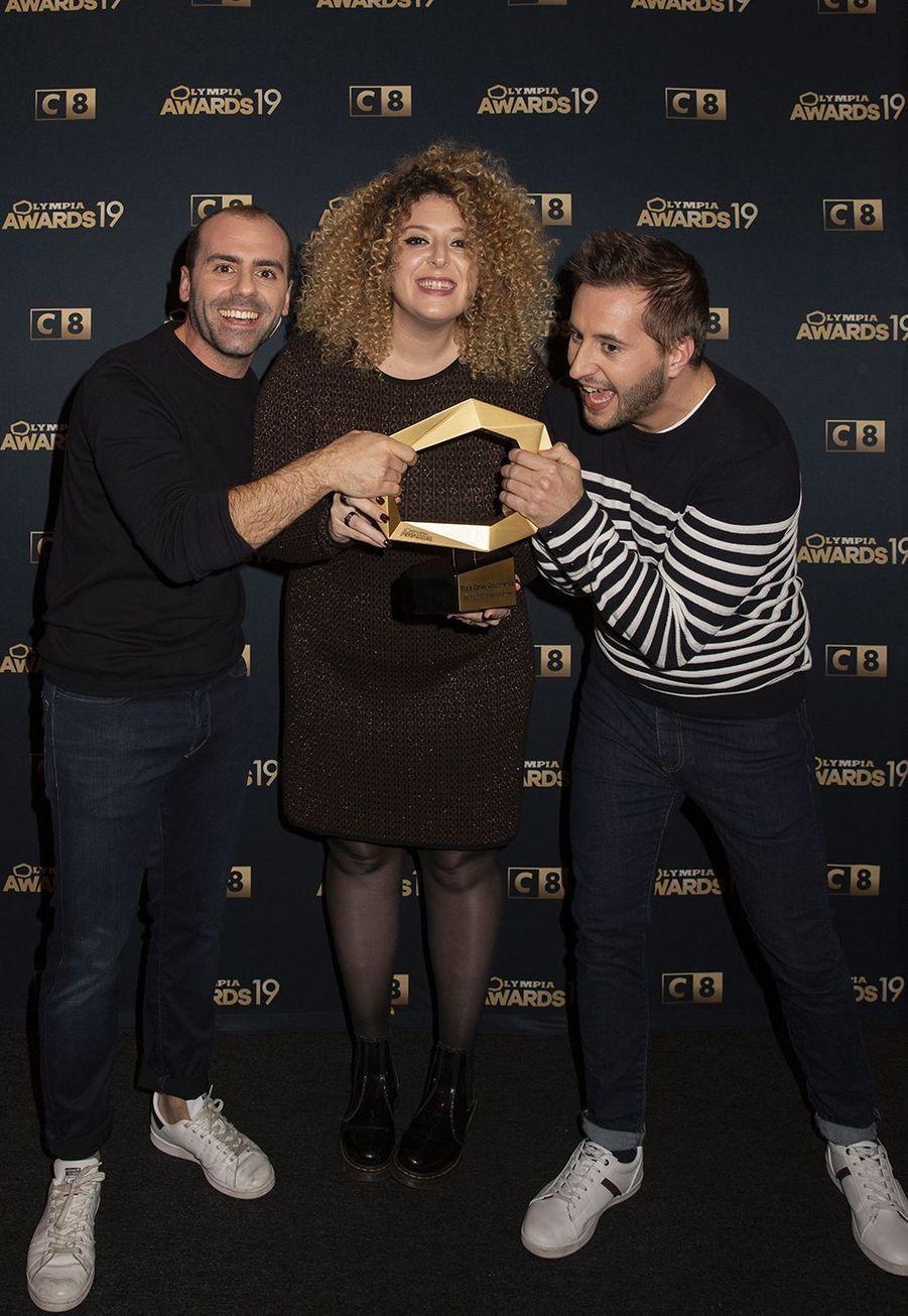 Trois Cafés Gourmandslors de la 1ère édition des Olympia Awards, cérémonie récompensant des artistes de la musique et de l'humour, à Paris le 11 décembre 2019