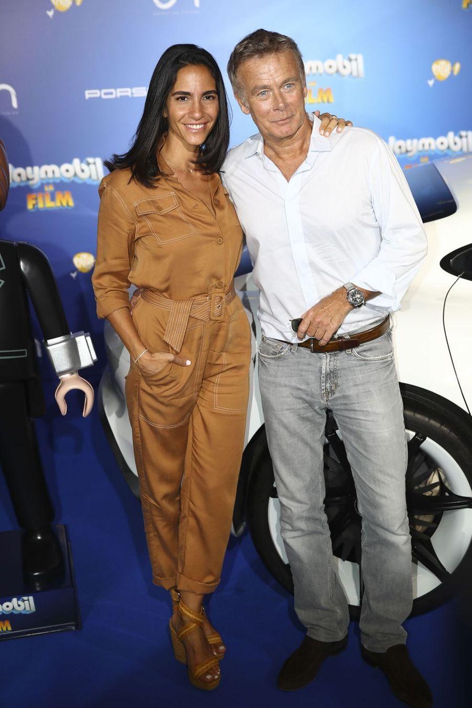"""Franck Dubosc et sa femme, Danièle,à l'avant-première de """"Playmobil, Le Film"""", le 23 juin 2019."""