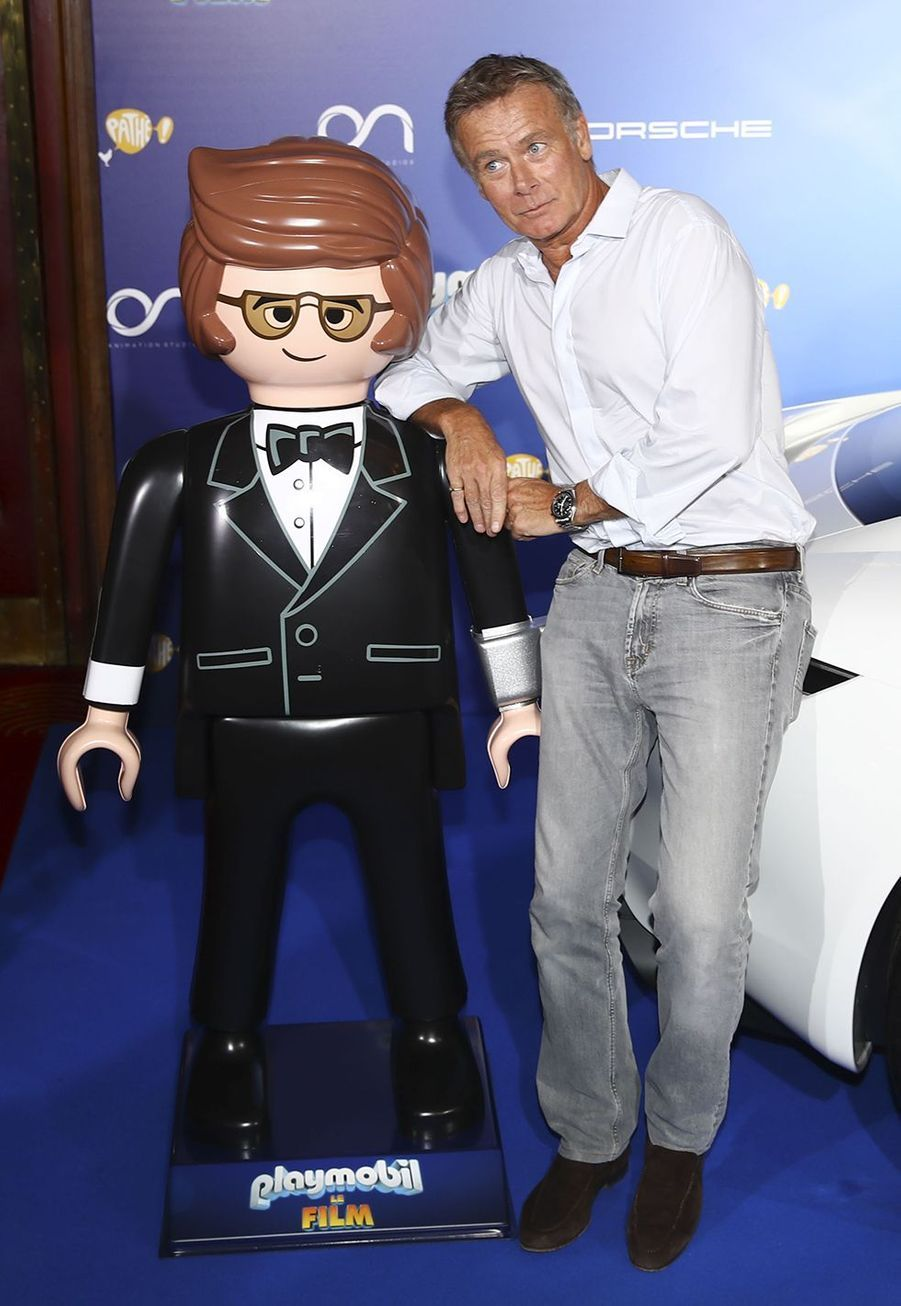 """Franck Dubosc à l'avant-première de """"Playmobil, Le Film"""", le 23 juin 2019."""