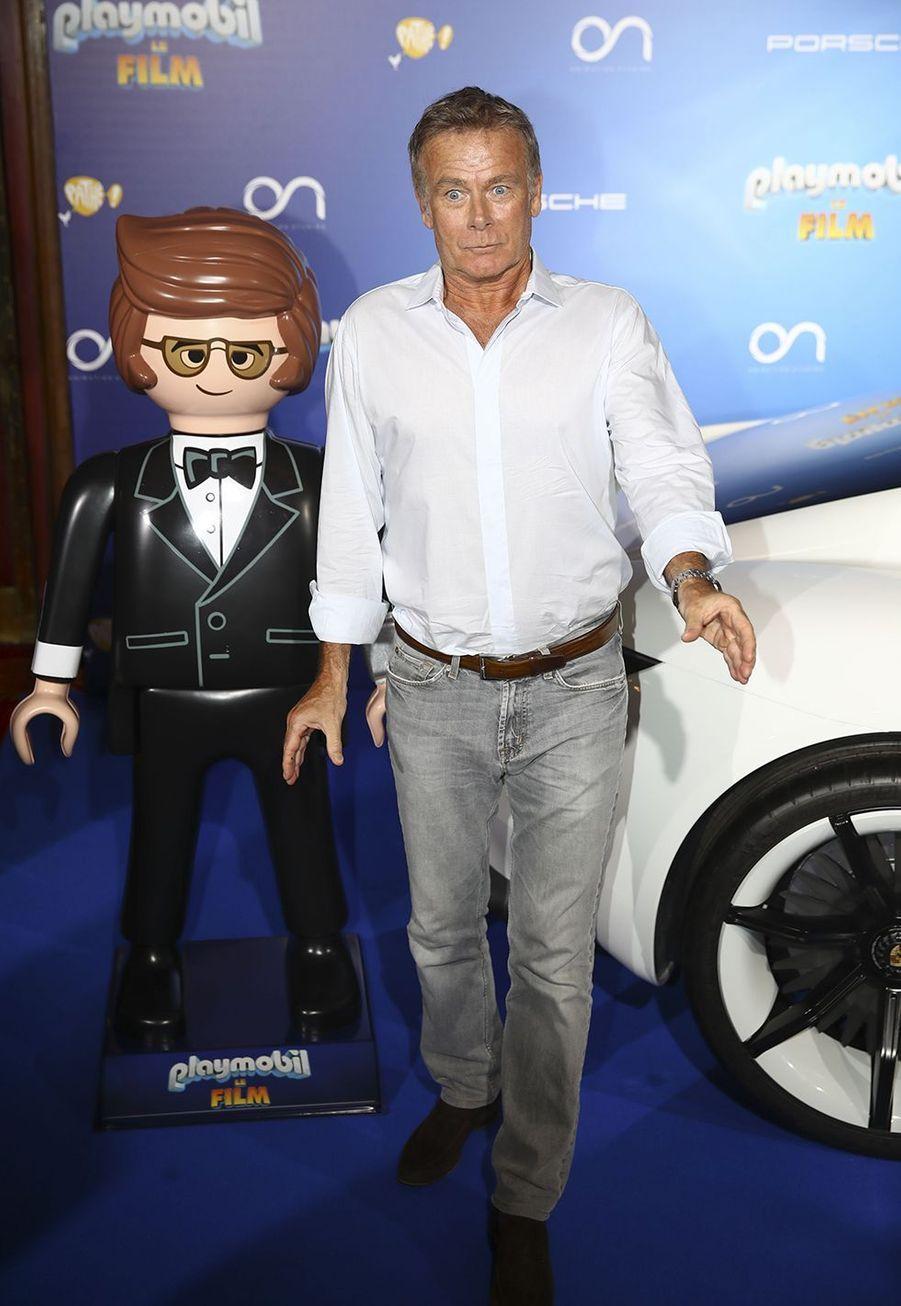 """Franck Duboscà l'avant-première de """"Playmobil, Le Film"""", le 23 juin 2019."""