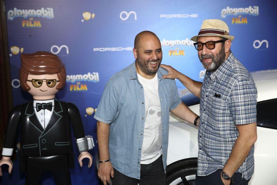 """Jérôme Commandeur et Kad Merad à l'avant-première de """"Playmobil, Le Film"""", le 23 juin 2019."""