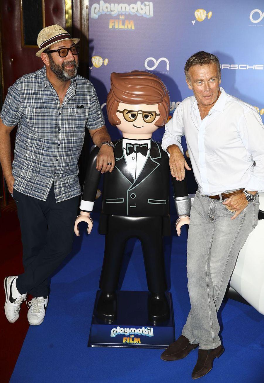 """Kad Marad et Franck Duboscà l'avant-première de """"Playmobil, Le Film"""", le 23 juin 2019."""