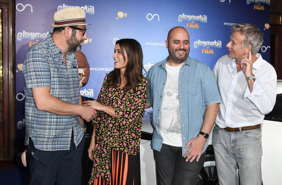 """Kad Merad, Jenifer, Jérôme Commandeur et Franck Dubosc à l'avant-première de """"Playmobil, Le Film"""", le 23 juin 2019."""