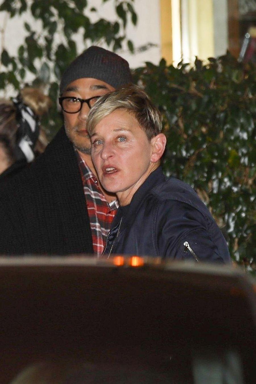 Ellen DeGeneresà la soirée d'anniversaire de Jennifer Aniston à Los Angeles le 9 février 2019