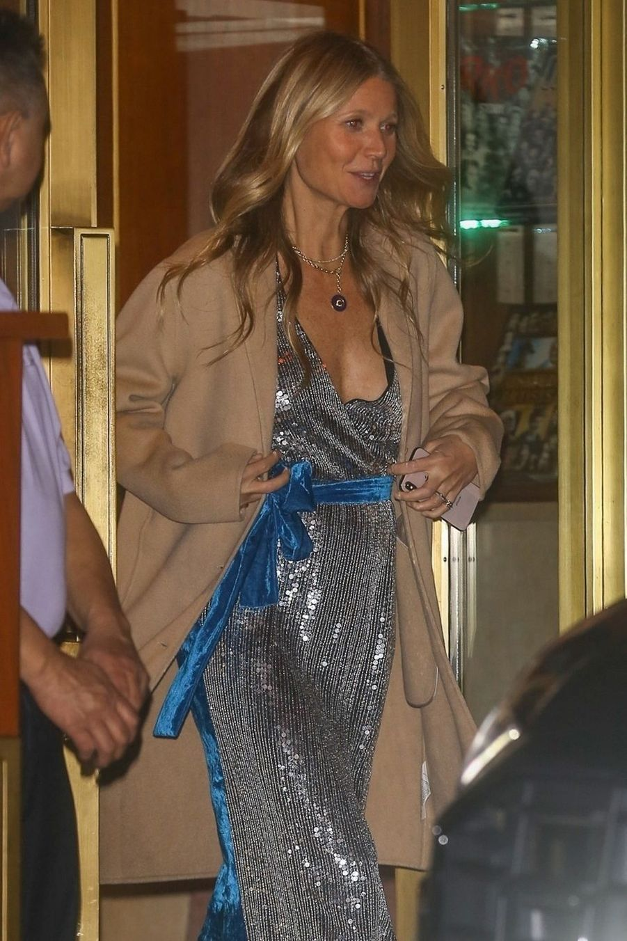 Gwyneth Paltrowà la soirée d'anniversaire de Jennifer Aniston à Los Angeles le 9 février 2019