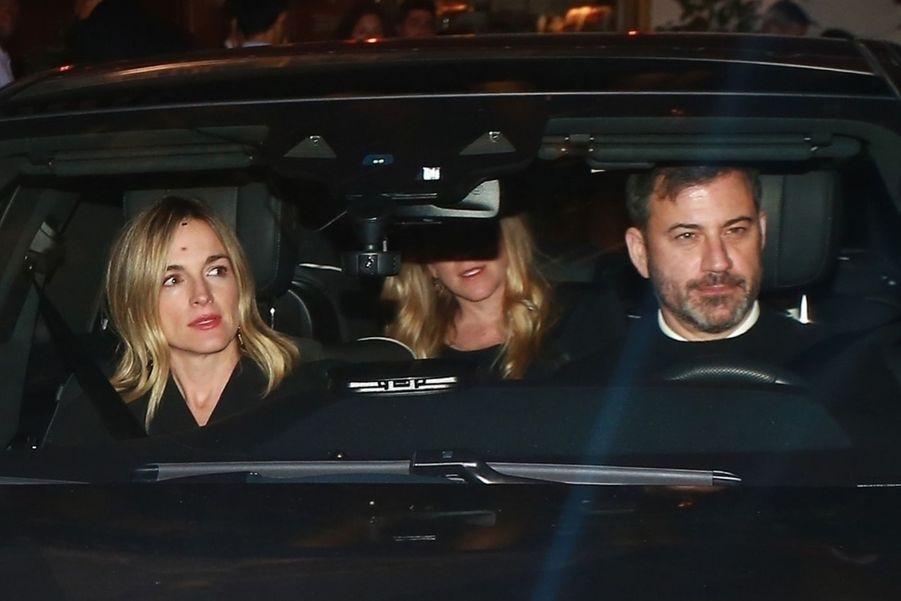 Jimmy Kimmel et son épouse Mollyà la soirée d'anniversaire de Jennifer Aniston à Los Angeles le 9 février 2019