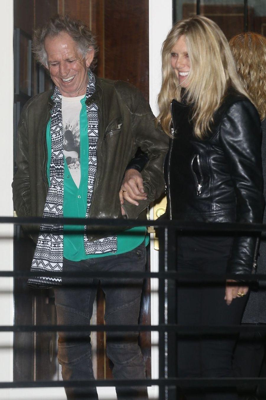 Keith Richards et sa femme Patti Hansenà la soirée d'anniversaire de Jennifer Aniston à Los Angeles le 9 février 2019