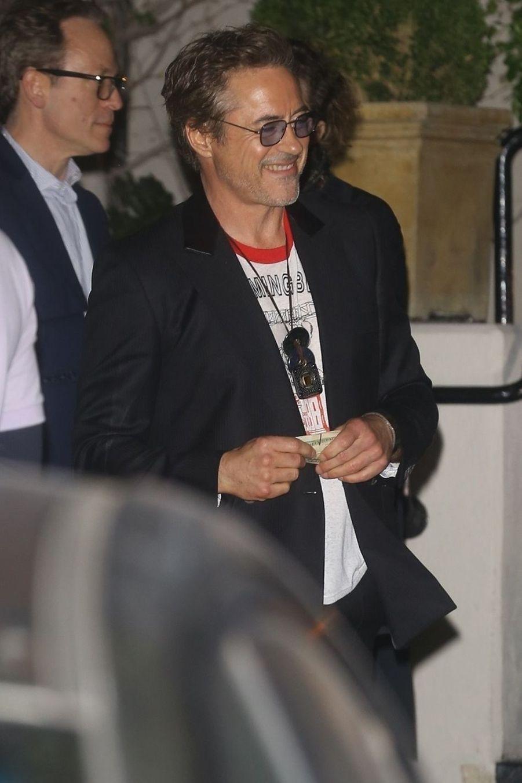 Robert Downey Jr.à la soirée d'anniversaire de Jennifer Aniston à Los Angeles le 9 février 2019