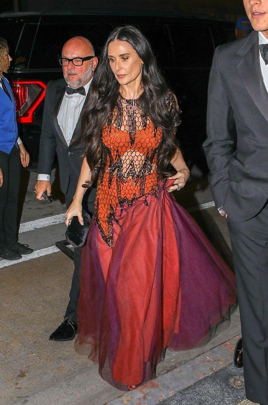 Demi Moore à la fête de fiançailles de Gwyneth Paltrow