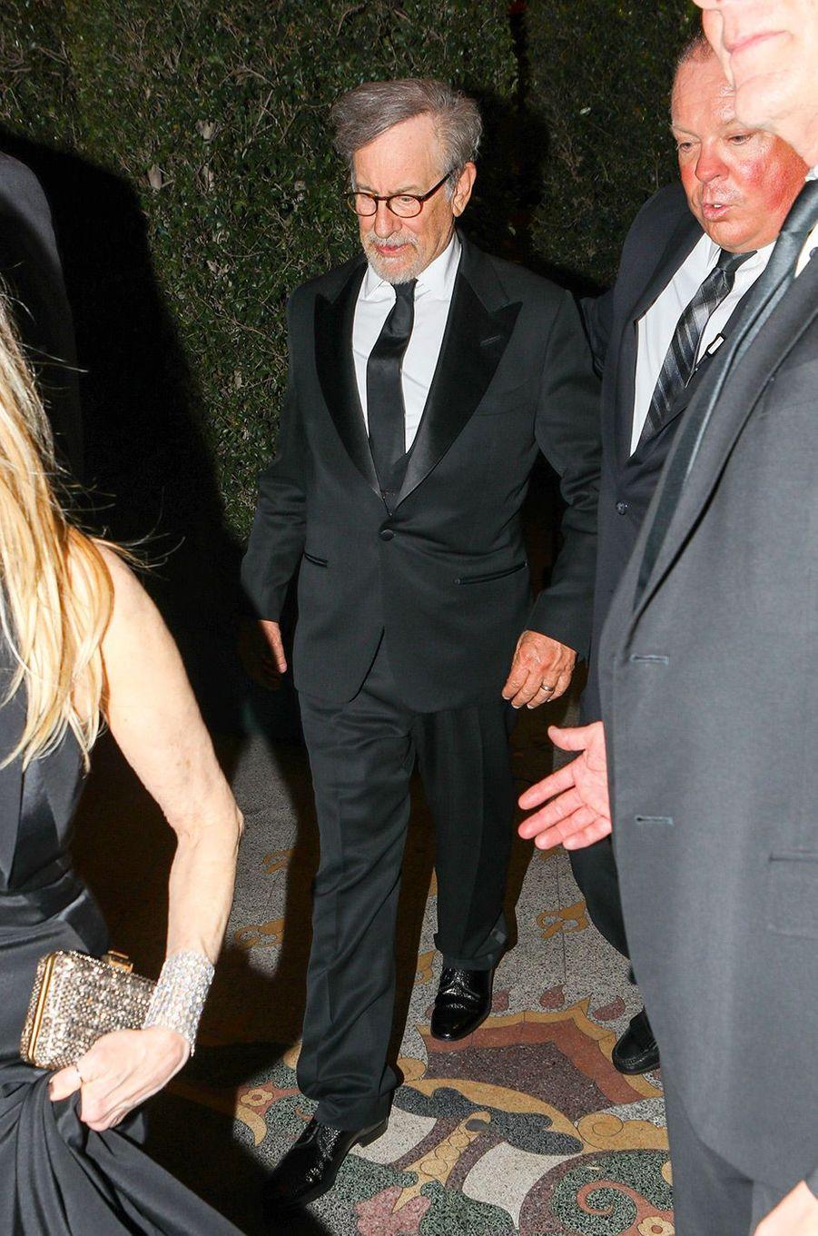 Steven Spielberg à la fête de fiançailles de Gwyneth Paltrow