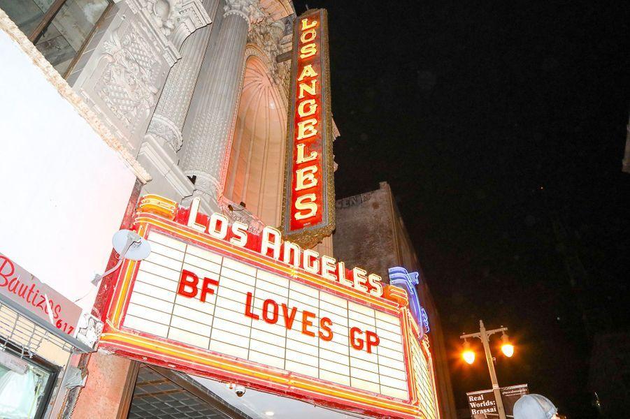 Fête de fiançailles de Gwyneth Paltrow et Brad Falchuk à Los Angeles