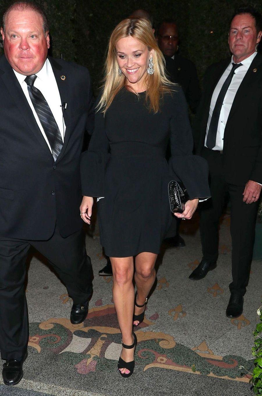 Reese Witherspoon à la fête de fiançailles de Gwyneth Paltrow