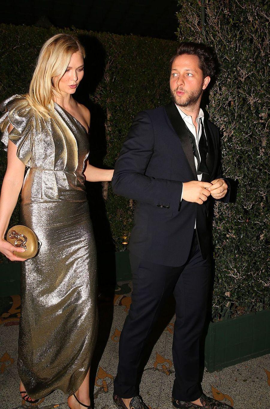 Karlie Kloss à la fête de fiançailles de Gwyneth Paltrow
