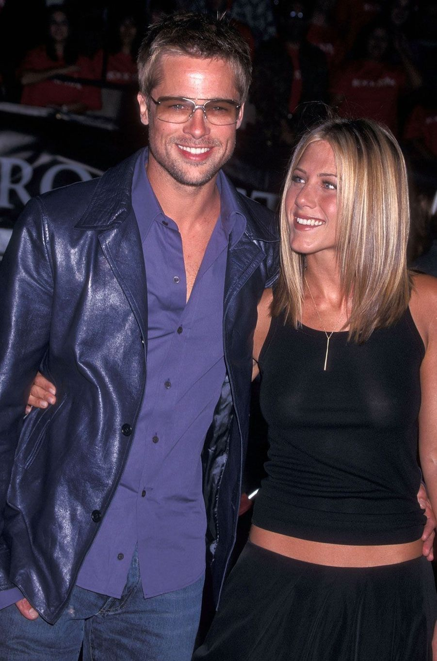 Jennifer Aniston et Brad Pitt en 2001
