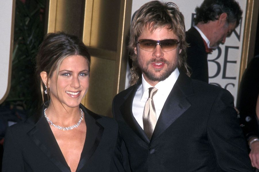 Jennifer Aniston et Brad Pitt en 2002