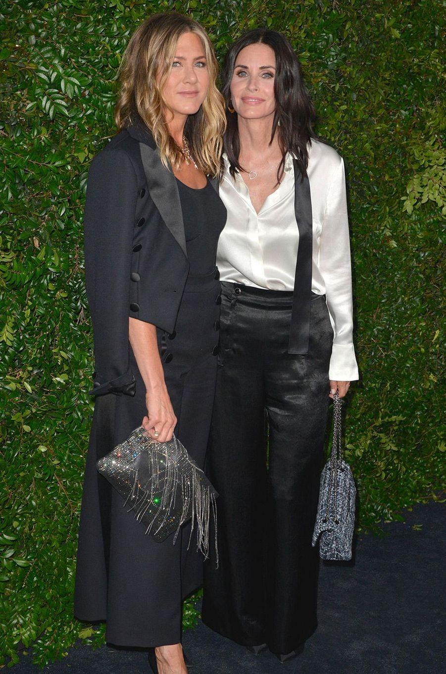 Jennifer Aniston et Courteney Cox à Los Angeles, samedi 2 juin
