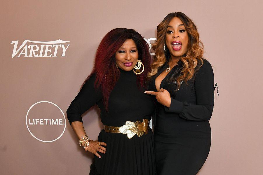 Chaka Khan et Niecy Nashà la soirée «Variety's Power of Women» à Los Angeles le 11 octobre 2019