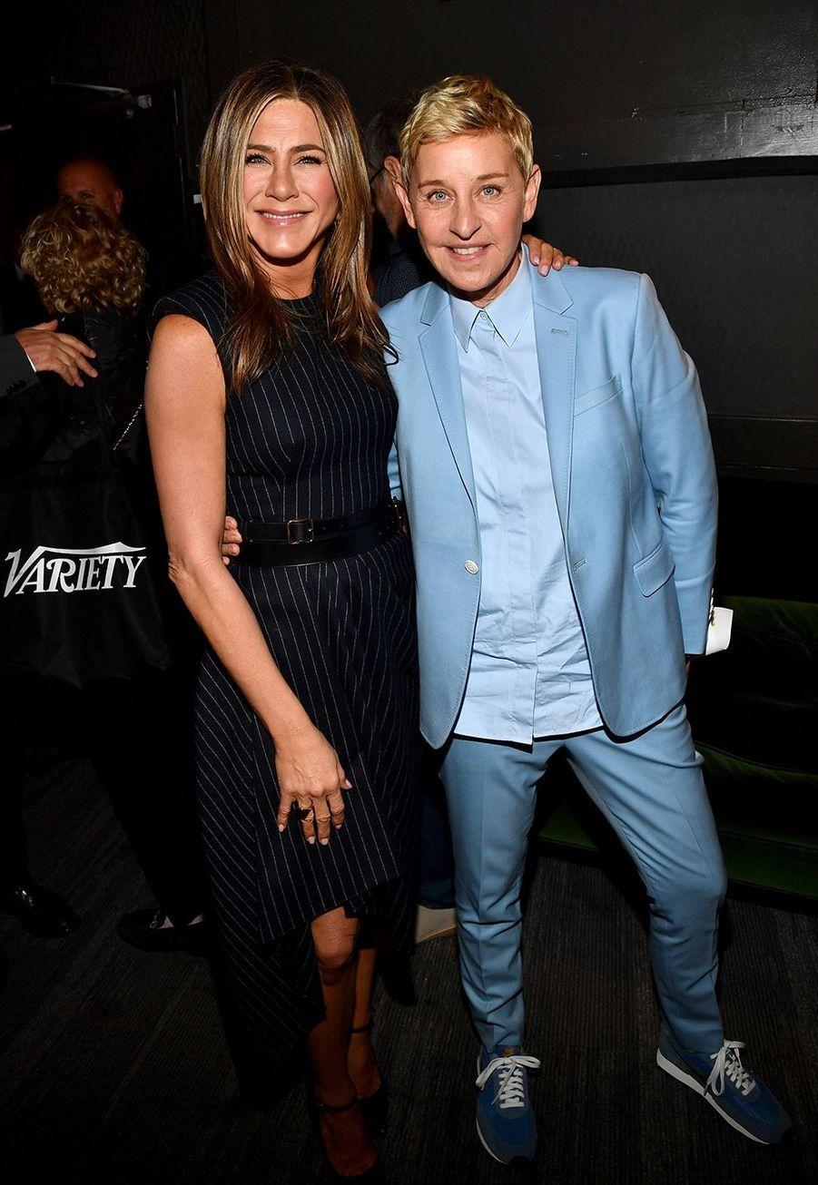 Jennifer Aniston et Ellen DeGeneresà la soirée «Variety's Power of Women» à Los Angeles le 11 octobre 2019
