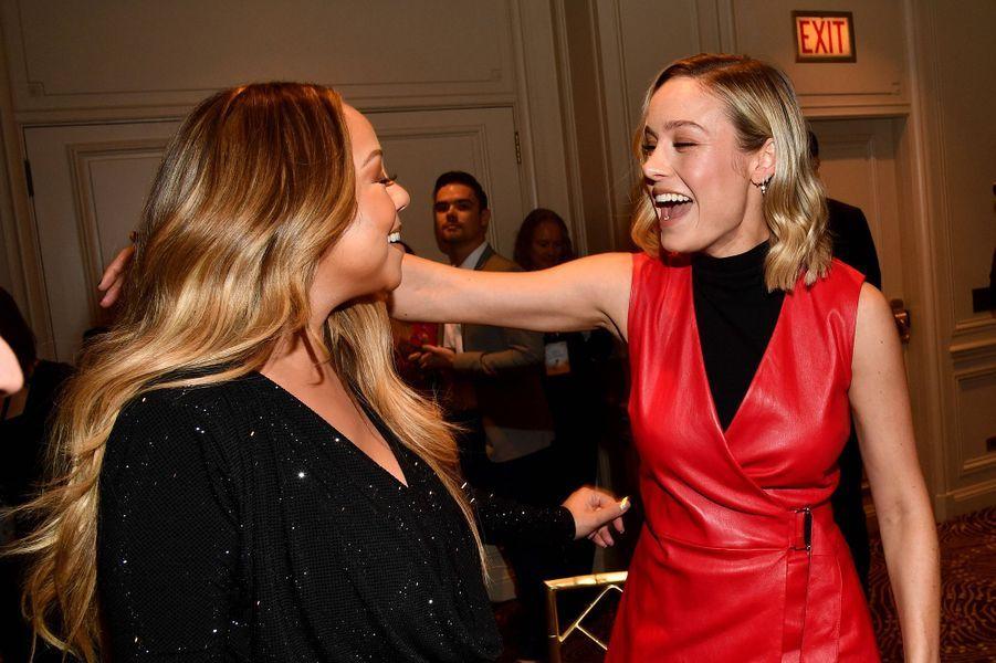 Mariah Carey et Brie Larsonà la soirée «Variety's Power of Women» à Los Angeles le 11 octobre 2019