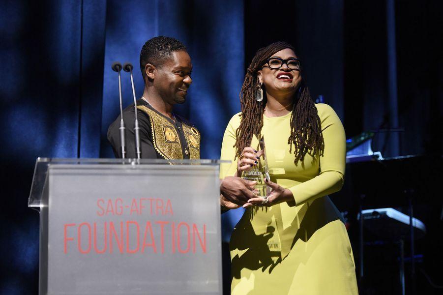 Ava DuVernay et David Oyelowoà la cérémonie desSAG-AFTRA Foundation à Los Angeles 7 novembre 2019