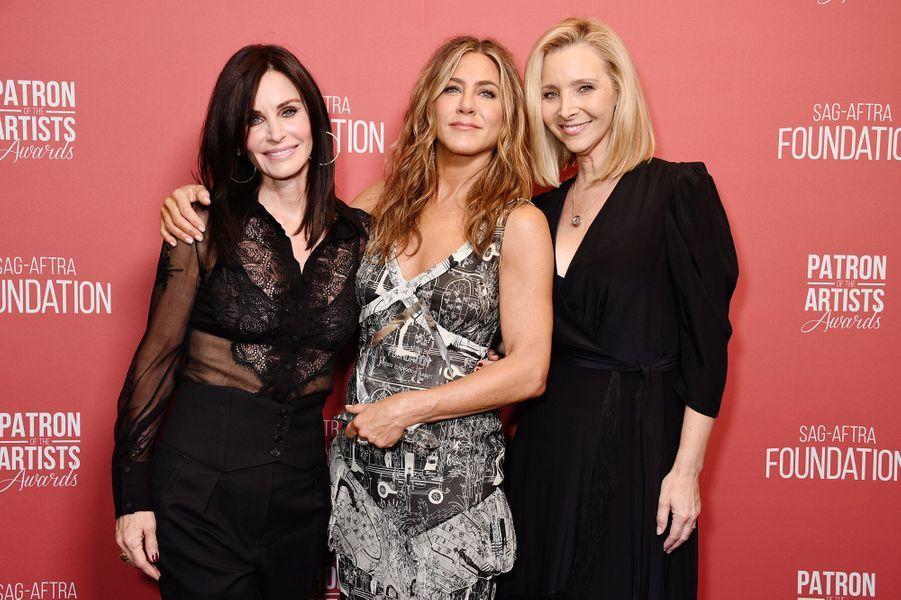 Courteney Cox, Jennifer Aniston et Lisa Kudrow à la cérémonie des SAG-AFTRA Foundation à Los Angeles 7 novembre 2019