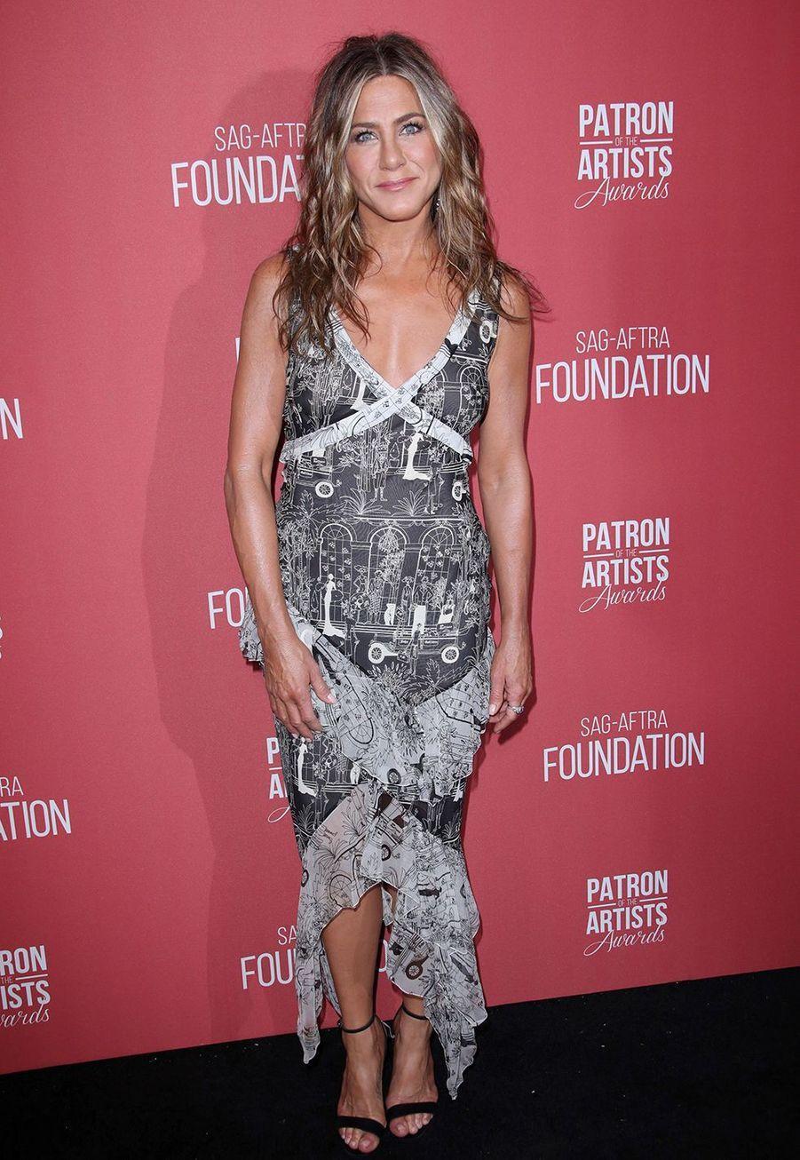Jennifer Anistonà la cérémonie desSAG-AFTRA Foundation à Los Angeles 7 novembre 2019