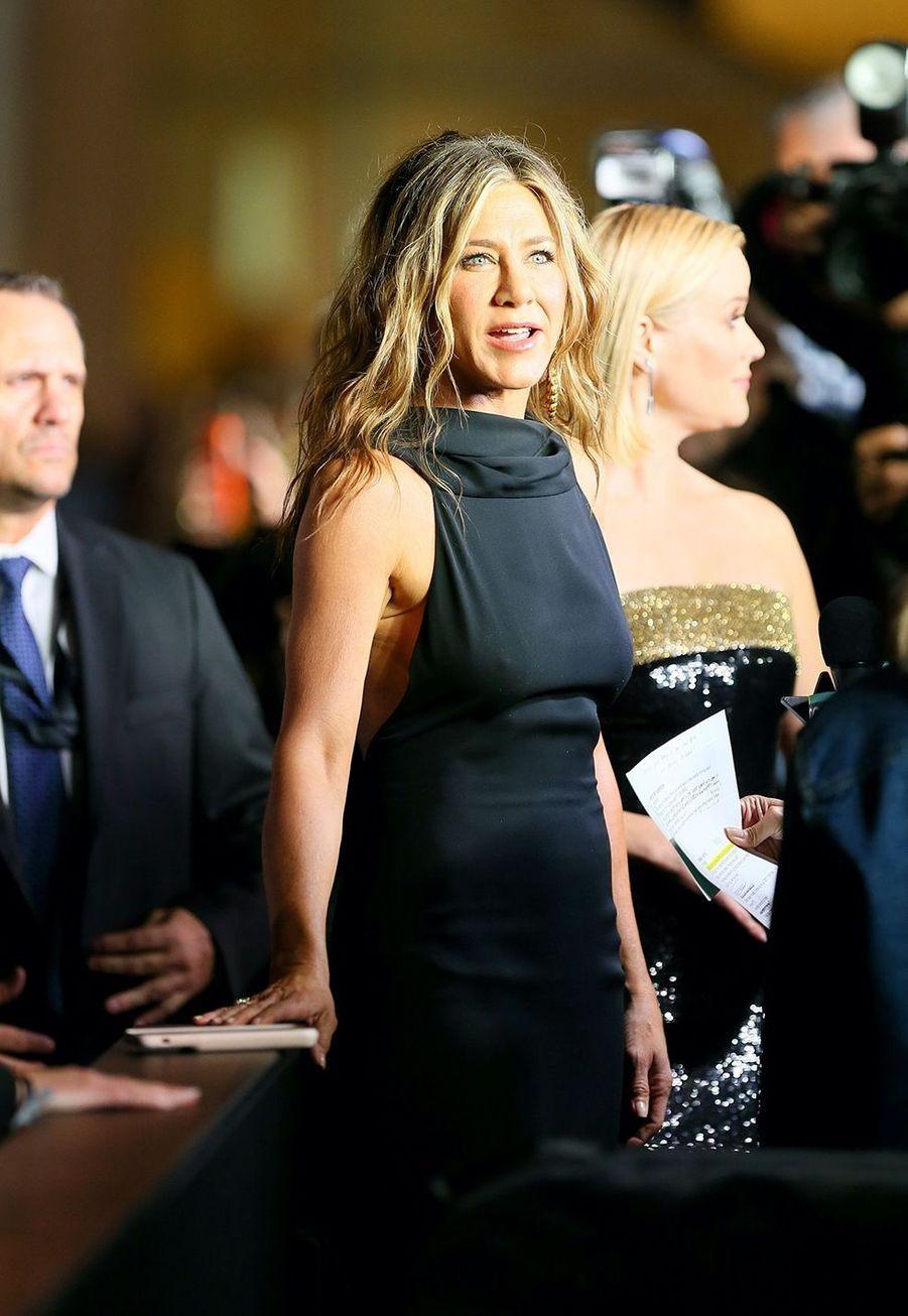Jennifer Anistonà la première de la série «The Morning Show» au Lincoln Center à New York, le 28 octobre 2019