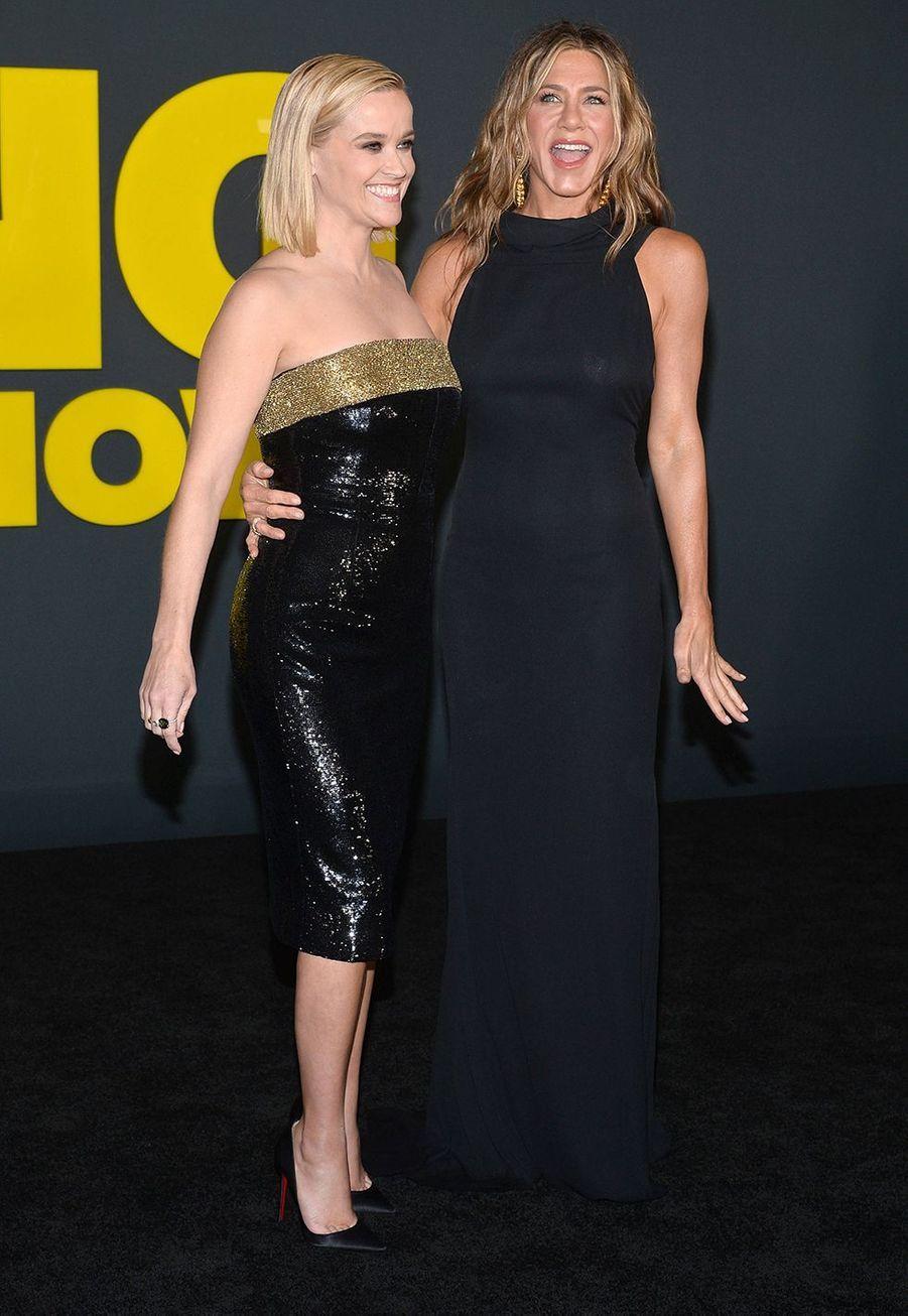 Reese Witherspoon et Jennifer Anistonà la première de la série «The Morning Show» au Lincoln Center à New York, le 28 octobre 2019