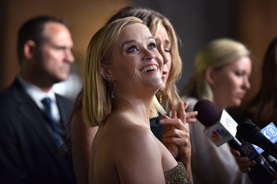 Reese Witherspoonà la première de la série «The Morning Show» au Lincoln Center à New York, le 28 octobre 2019