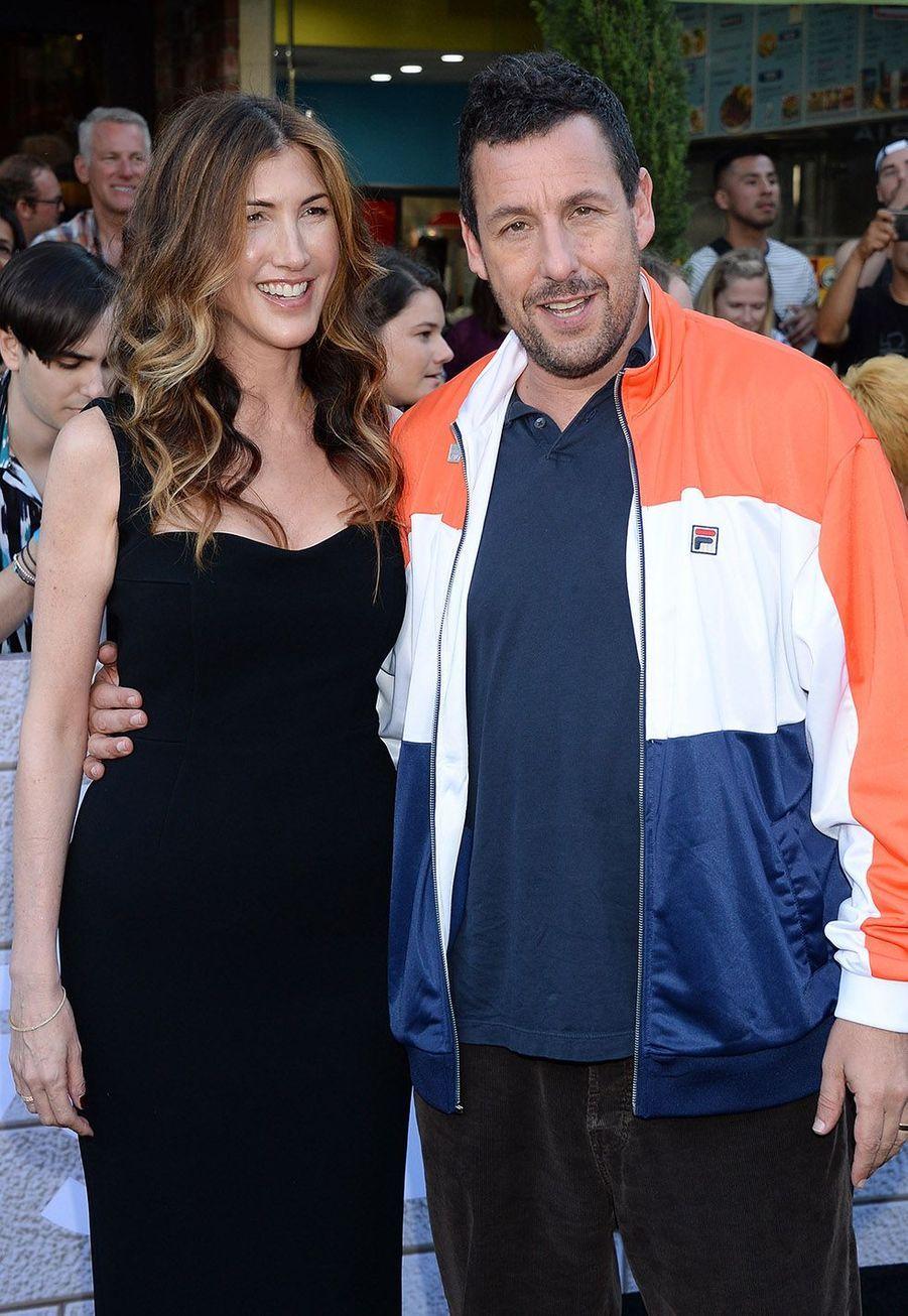 Adam Sandler et sa femmeà la première du film«Murder Mystery» le 10 juin à Los Angeles.